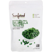 Sunfood Broken Cell Wall Chlorella Tablets 250 mg 912 Tablets 8 oz (227 g)