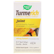 Nature's Way TurmeRich Joint 400 mg Turmeric 60 Plant-Base Capsules