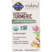 Garden of Life MyKind Organics Maximum Strength Turmeric Joints & Mobility 30 Vegan Tablets
