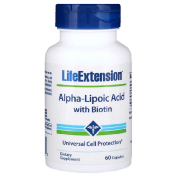 Life Extension Alpha-Lipoic Acid with Biotin 60 Capsules