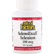 Natural Factors SelenoExcell селен 200 мкг 90 капсул