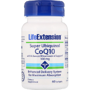 Life Extension Super Ubiquinol CoQ10 with Enhanced Mitochondrial Support 100 мг 60 мягких таблеток