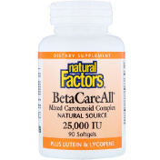 Natural Factors BetaCareAll plus Lutein & Lycopene 25 000 IU 90 Softgels