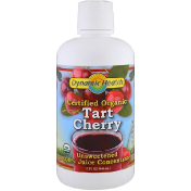 Dynamic Health  Laboratories Certified Organic Tart Cherry 100% Juice Concentrate Unsweetened 32 fl oz (946 ml)