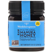 Wedderspoon Raw Multifloral Manuka Honey KFactor 12 8.8 oz (250 g)