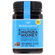 Wedderspoon Raw Multifloral Manuka Honey KFactor 12 17.6 oz (500 g)