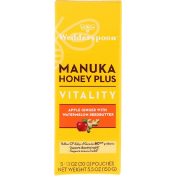 Wedderspoon Manuka Honey Plus Vitality Apple Ginger with Watermelon Seedbutter 5 Pouches 1.1 oz (30 g) Each