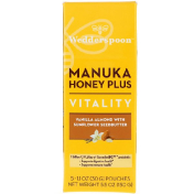 Wedderspoon Manuka Honey Plus Vitality Vanilla Almond with Sunflower Seedbutter 5 Pouches 1.1 oz (30 g) Each