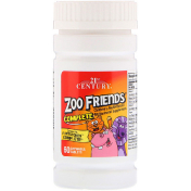 21st Century Zoo Friends Complete Children's Multivitamin / Multimineral Supplement 60 Chewable Tablets