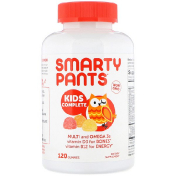SmartyPants Kids Complete Strawberry Banana Orange and Lemon Flavors 120 Gummies
