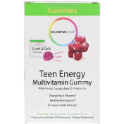 Rainbow Light Teen Energy Multivitamin Gummy Grape Flavor 30 Packets 4 Gummies per Packet