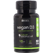 Sports Research Vegan D3 125 mcg 60 Veggie Softgels