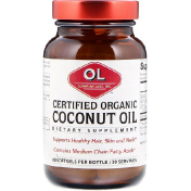Olympian Labs Inc. Certified Organic Coconut Oil Organic 60 Softgels