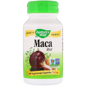 Nature's Way Maca Root 525 mg 100 Vegetarian Capsules