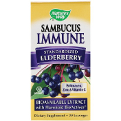 Nature's Way Sambucus Immune Elderberry Standardized 30 Lozenges