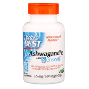 Doctor's Best Ashwagandha with Sensoril 125 mg 60 Veggie Caps