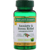 Nature's Bounty Anxiety & Stress Relief Ashwagandha KSM-66 50 Tablets