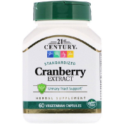 21st Century Cranberry Extract Standardized 60 Vegetarian Capsules