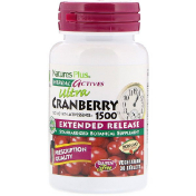 Nature's Plus Herbal Actives Ultra Cranberry 1500 1 500 mcg 30 Vegetarian Tablets