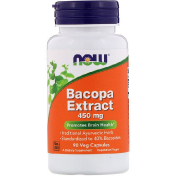 Now Foods Bacopa Extract 450 mg 90 Veg Capsules