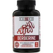 Zhou Nutrition Berberine with Oregon Grape 1 000 mg 60 Veggie Capsules