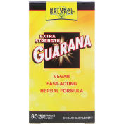 Natural Balance Гуарана Guarana Extra Strength 60 вегетарианских капсул
