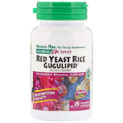 Nature's Plus Herbal Actives Red Yeast Rice Gugulipid 450 mg 60 Vegetarian Capsules