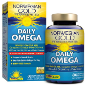 Renew Life Daily Omega Natural Orange Flavor 60 Enteric-Coated Softgels