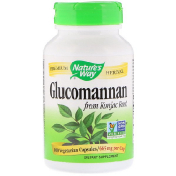 Nature's Way Glucomannan from Konjac Root 665 mg 100 Vegetarian Capsules