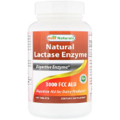 Best Naturals Natural Lactase Enzyme 3000 FCC ALU 180 Tablets