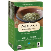 Numi Tea Organic Tea Green Tea Mate Lemon 18 Tea Bags 1.46 oz (41.4 g)