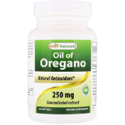 Best Naturals Oil of Oregano 250 mg 120 Softgels