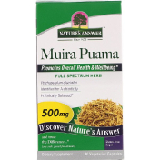 Nature's Answer Muira Puama 500 mg 90 Vegetarian Capsules