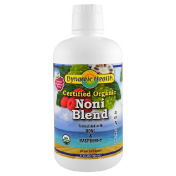 Dynamic Health  Laboratories Organic Certified Noni Blend Natural Raspberry Flavor 32 fl oz (946 ml)
