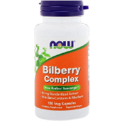 Now Foods Bilberry Complex 100 Veg Capsules