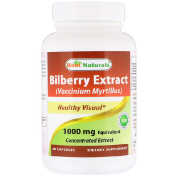 Best Naturals Bilberry Extract (Vaccinium Myrtillus) 1000 mg 90 Capsules