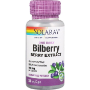 Solaray Bilberry One Daily 30 Easy-To-Swallow Capsules