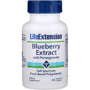 Life Extension Blueberry Extract with Pomegranate 60 Vegetarian Capsules