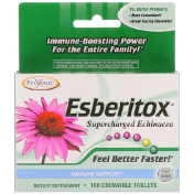 Enzymatic Therapy Esberitox Supercharged Echinacea Immune Support 100 Chewable Tablets