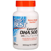 Doctor's Best Calamari DHA 500 with Calamarine 500 mg 60 Softgels