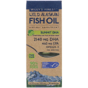 Wiley's Finest Wild Alaskan Fish Oil Summit DHA Natural Lime Flavor 4.23 fl oz (125 ml)