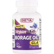 Deva Vegan Premium Borage Oil GLA 90 Vegan Caps