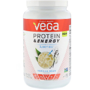 Vega Protein & Energy with 3 g MCT Oil Vanilla Bean 30 oz (850 g)