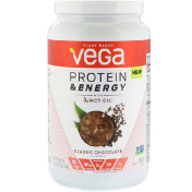 Vega Protein & Energy with 3g MCT Oil Classic Chocolate 29.8 oz (844 g)