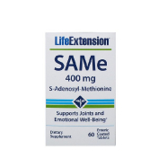 Life Extension SAMe 400 mg 60 Enteric Coated Tablets