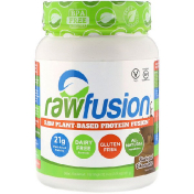 RawFusion Raw Plant-Based Protein Fusion Natural Chocolate 2.05 lbs (931 g)