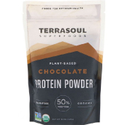 Terrasoul Superfoods Plant-Based Chocolate Protein Powder 12 oz (340 g)