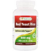 Best Naturals Red Yeast Rice with CoQ10 600 mg 120 Capsules