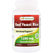Best Naturals Red Yeast Rice 1200 mg 60 Tablets