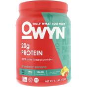 OWYN Protein 100% Plant-Based Powder Strawberry Banana 1.1 lbs (512 g)
